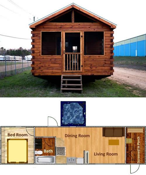 Meadow Brook park model log cabin from Avery Cabin Co