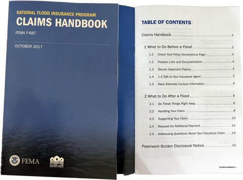 National Flood Insurance Program Claims Handbook from FEMA