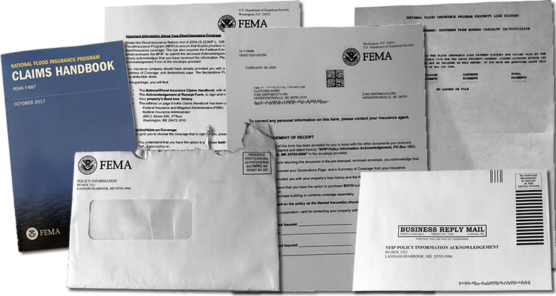 Packet from FEMA about Flood Insurance