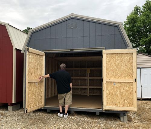Inside Carolina Storage Solutions 12 x 12 LP Smart Lofted Barn