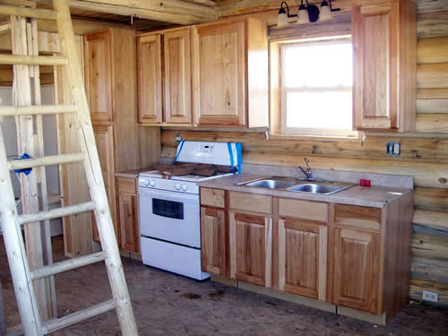 Example of the kitchen you could put into your log cabin