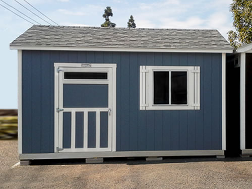 Premier Lean-To from Tuff Shed in Home Depot Parking Lot