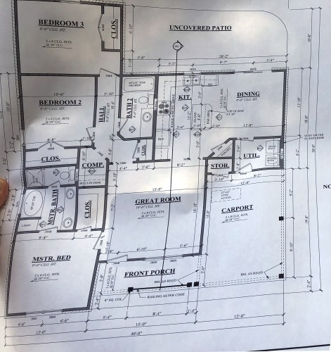 House Plans for the house that is being built near us