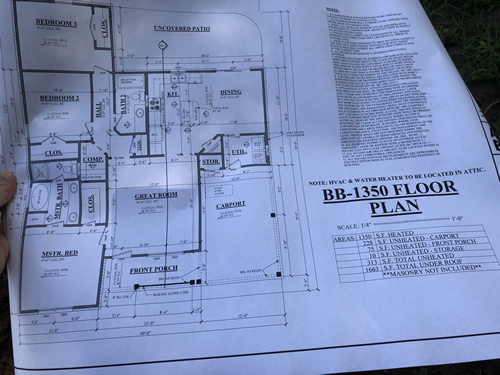 Plans to the new house near us