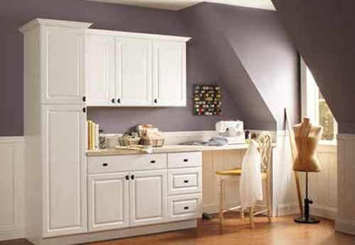 Home Depot Hampton Or Easthaven Shaker Unfinished Wood Cabinets For The Laundry Room Project Small House