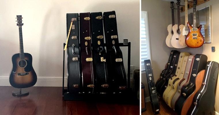 Safely Displaying, Storing and Organizing Guitars
