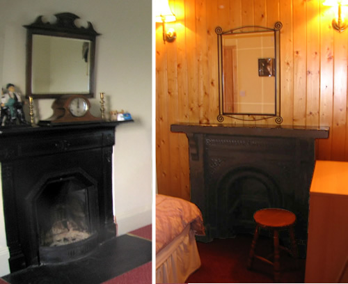 Fire Places at The Harbour Masters House in Shannon Harbour, Birr, County Offaly, Ireland