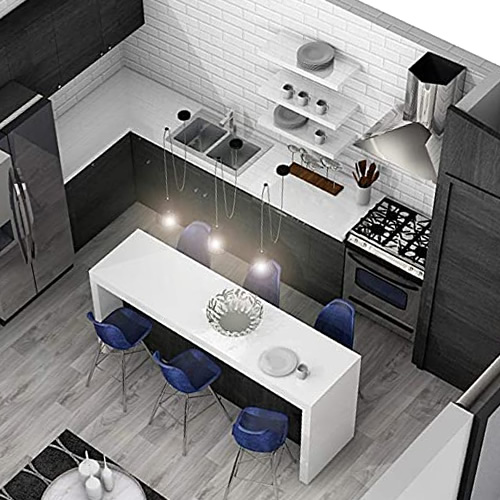 Kitchen in the Open Floor Plan in the starENERGY 18x36 Small House Kit