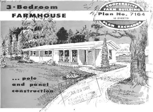 Pole and Panel 3 Bedroom Farmhouse Plan