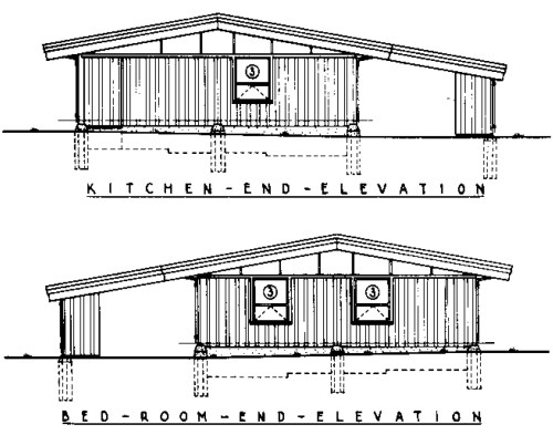 Pole and Panel 3 Bedroom Farmhouse House Plan - Side Elevations