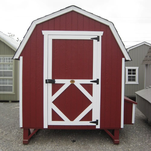 Pedestrian Door on the Gambrel Barn Coop from the Little Cottage Company