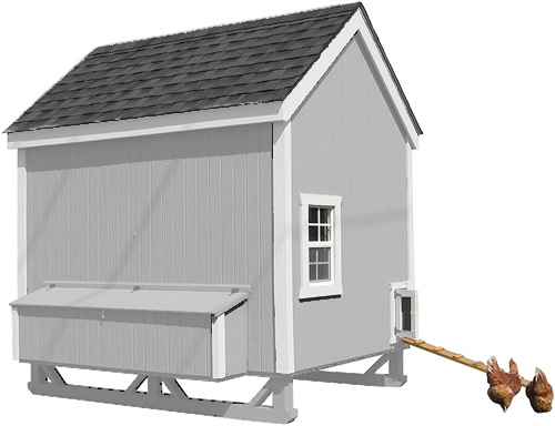Grey Paint on a Little Cottage Company Chicken Coop Kit
