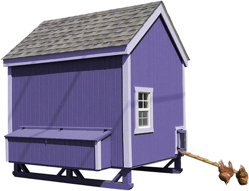 Purple Paint and Trim on a Little Cottage Company Chicken Coop Kit