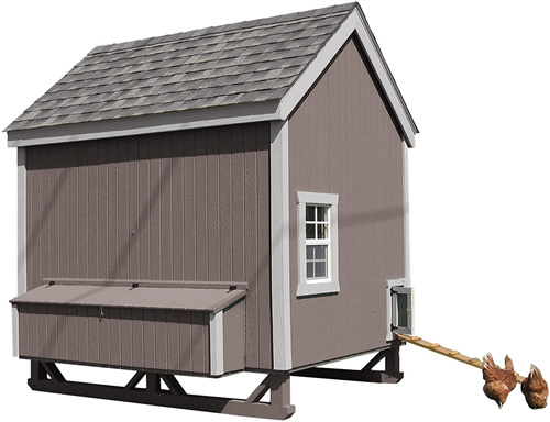 Cocoa Brown Paint on a Little Cottage Company Chicken Coop Kit
