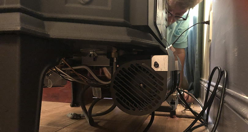 Adding the Blower to the Jotul Gas Fireplace