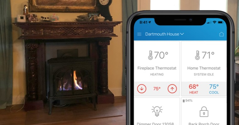 Connecting Z-Wave Home Automation Thermostat to our Jotul Sebago Free Standing Gas Fireplace