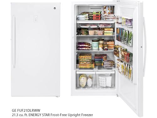 GE FUF21DLRWW 21.3 cu. ft. ENERGY STAR Frost-Free Upright Freezer