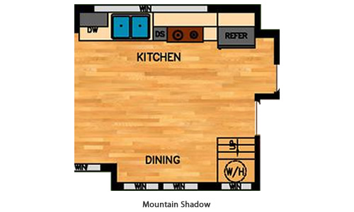 Mountain Shadow Kitchen Layout