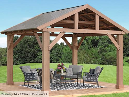 Yardistry Wood Pavilion Kit