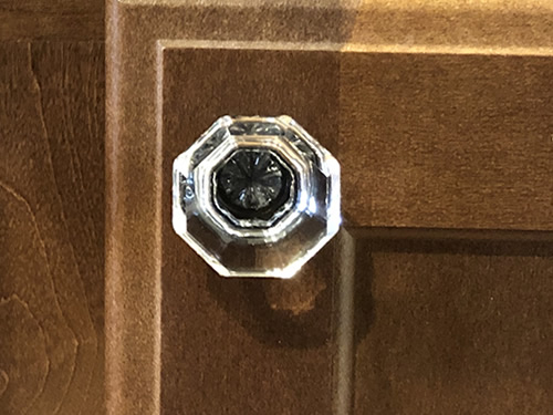 Cosmas 5268ORB-C cabinet knob in Oil Rubbed Bronze with clear glass