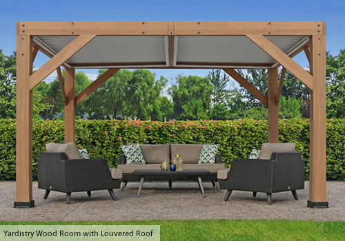Yardistry Outdoor Room Kit with Louvered Roof