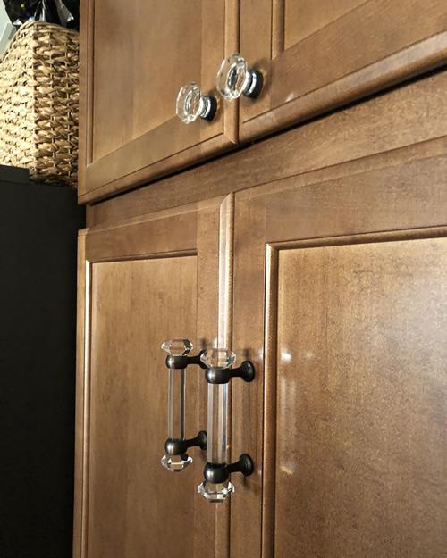 The Cosmas 6393ORB-C handles on the pantry doors