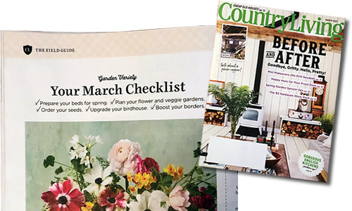 Your March Checklist March 2021 Country Living