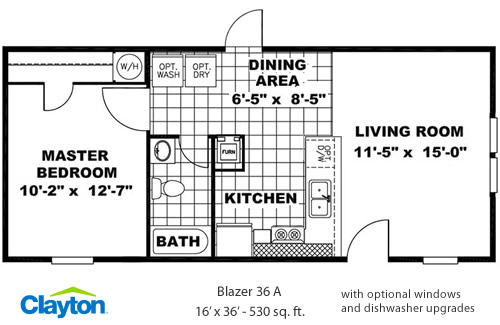 Clayton Homes Blazer 530 square foot Manufactured Home
