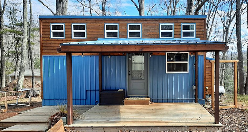 Pre-Owned Tiny House with Downstairs Bedroom & 2 Lofts
