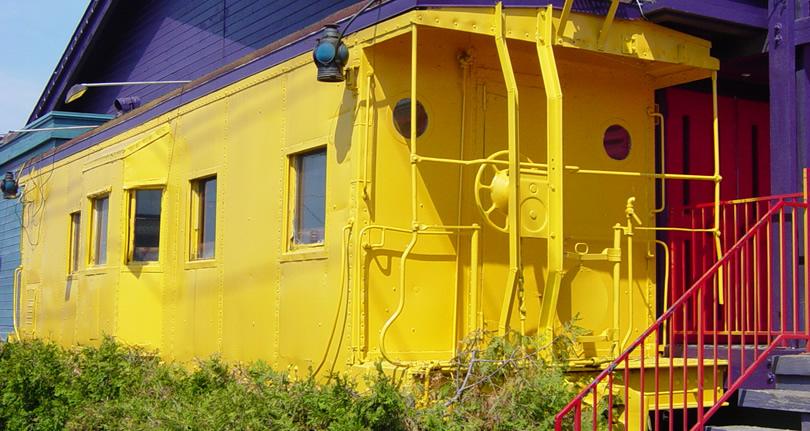 Living in a Train Caboose