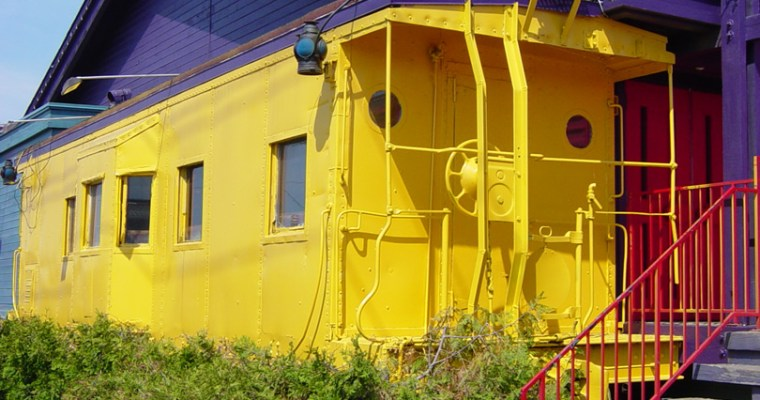 Living in a Train Caboose