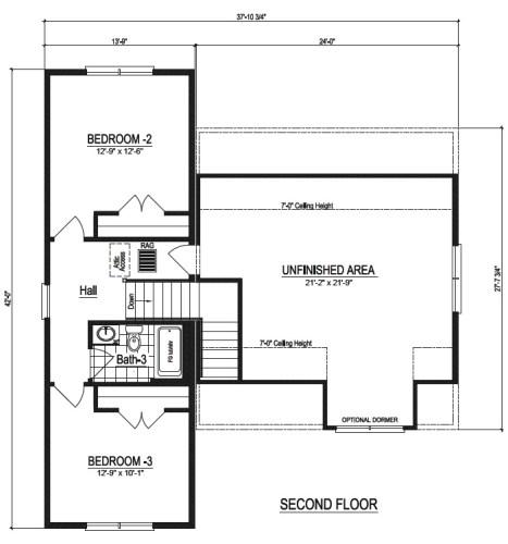 Nationwide Homestead Farmhouse I Upstairs Floor Plans