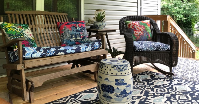 Amazon Pillow Covers for the Back Porch
