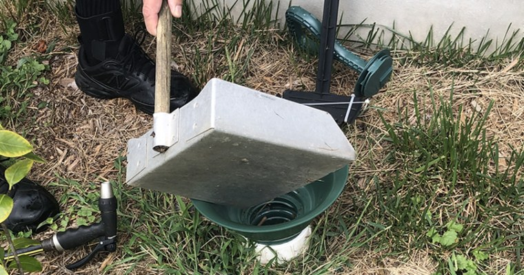 Dog Waste Sewer Line Funnel Attachment