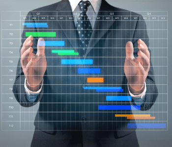 The 8 Step Guide to Creating a Quality Project Schedule Businessman with a Gantt chart