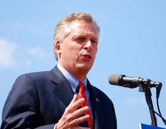 Virginia Governor Terry McAuliffe (Photo by Kate Wellington/CC 2.0)