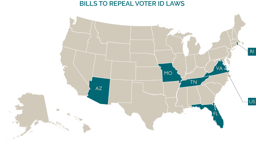 Legislative Threats And Opportunities Update Project Vote - Map of voter id laws in the us
