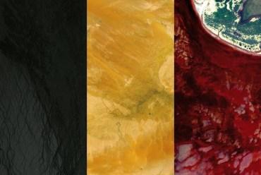 België uit satellietbeelden