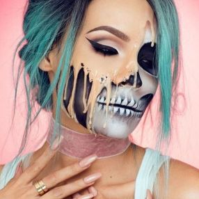 Halloween make-up (Foto: Pinterest)