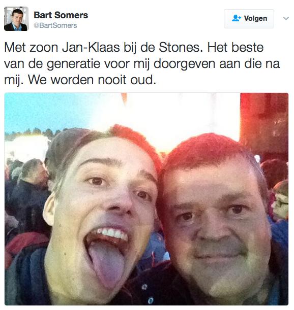 Tweet Rolling Stones Bart Somers