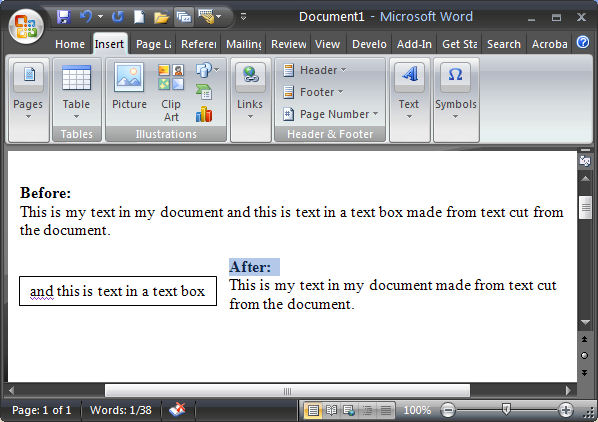 Instant text boxes in Microsoft Word « projectwoman.com
