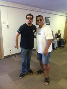 Hanging with Erich (Mancow) Muller.