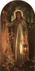 """The Light of the World"" - Painted by William Holman Hunt in the 1800s - Revelation 3:20 - Here I am! I stand at the door and knock. If anyone hears my voice and opens the door, I will come in and eat with that person, and they with me."