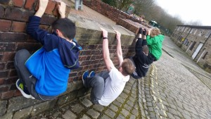 Bury parkour classes in action