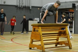 Picture showing new Bury parkour classes happening