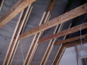 Dachsparren aufgedoppelt