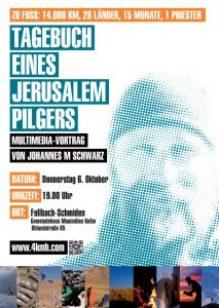 Flyer Tagebuch eines Jerusalempilgers