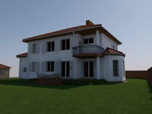 wizualizacja i projekt elewacji domu jednorodzinnego dworek