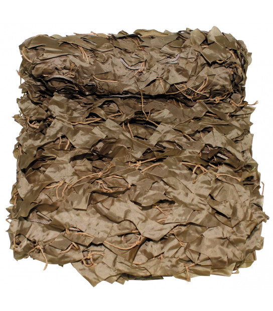 filet camouflage 2 x 3 m basic kaki avec sac de pvc beige coyote tan