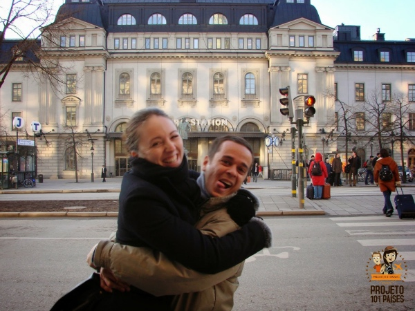 Reencontro com Marion, em Estocolmo, Suécia (Jan/2008)